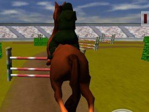 العاب مسابقات قفز الخيول