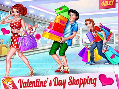 لعبة التسوق لعيد الحب