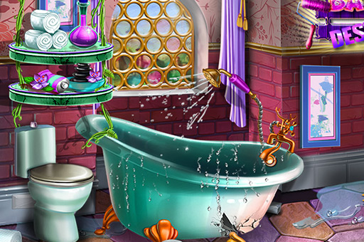 لعبة تصميم حمام فاخر