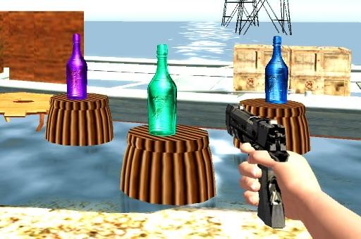 لعبة رماية الزجاجة