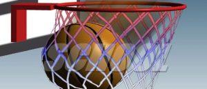 لعبة كرة السلة في مدرسة