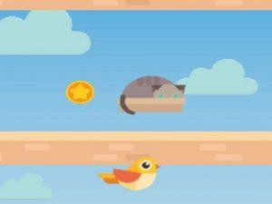 لعبة مغامرات الطيور القافزة