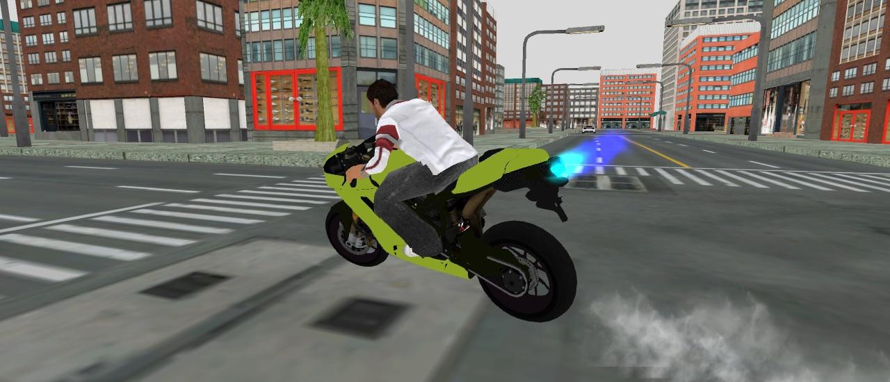 لعبة موقف الدراجات النارية