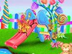 لعبة تنظيف حديقة الحلوى